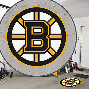 Street Grip outdoor decal of the Boston Bruins' logo